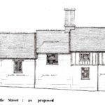 Proposed elevation from Castle Street showiong the raised roof providing the additional first floor accommodation.
