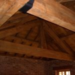 New oak roof over the snooker room.
