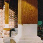 Oak post detail