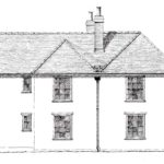 Proposed two storey extension to the existing house.
