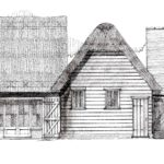 Proposed front elevations of the converted barns