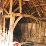 Internal view of the main barn before conversion