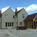 New rear double gable extension and Garden Room