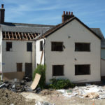 Rear extension during the demolition works