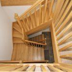 Oak stairs detail - © ScandiaHus