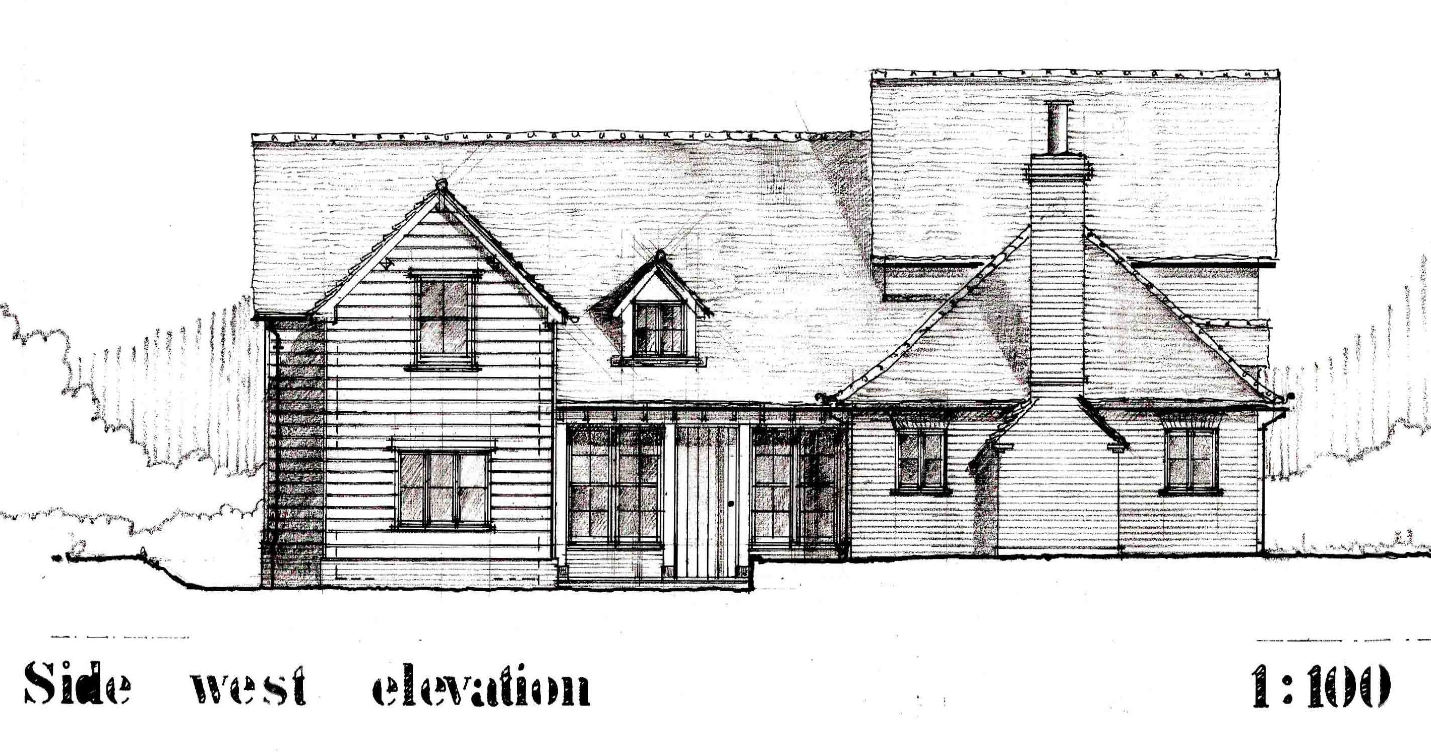 House Elevation Drawing Front Side : Rectory stables wicken house bonhunt ian