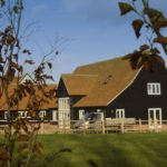 New 5/6 bedroom house in the form of a traditional timber framed barn.