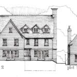 Maple Ave-Rear Elevation