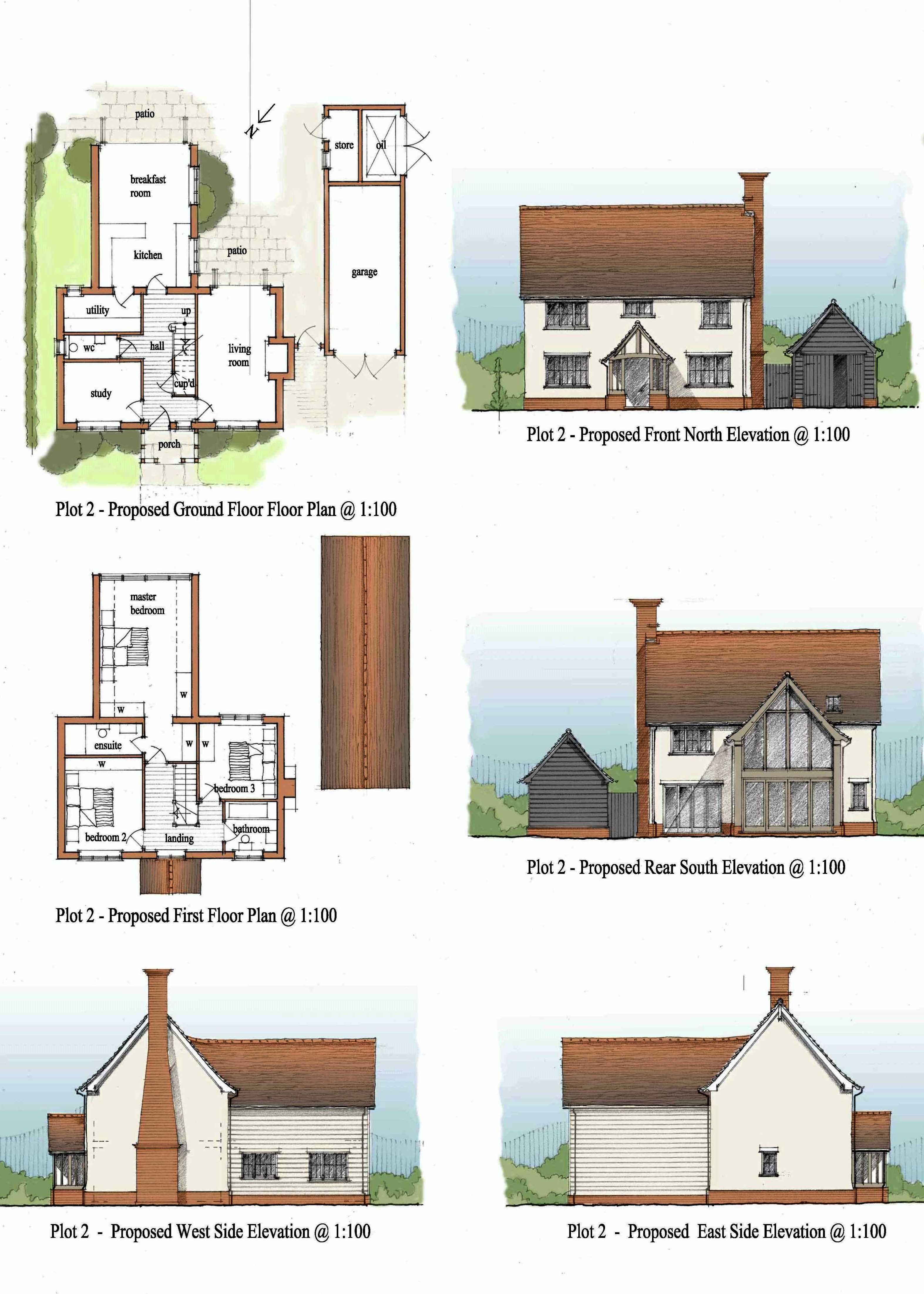 houses, in the Essex village of Debden, near Saffron Walden, Essex