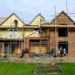 Rear elevation under construction