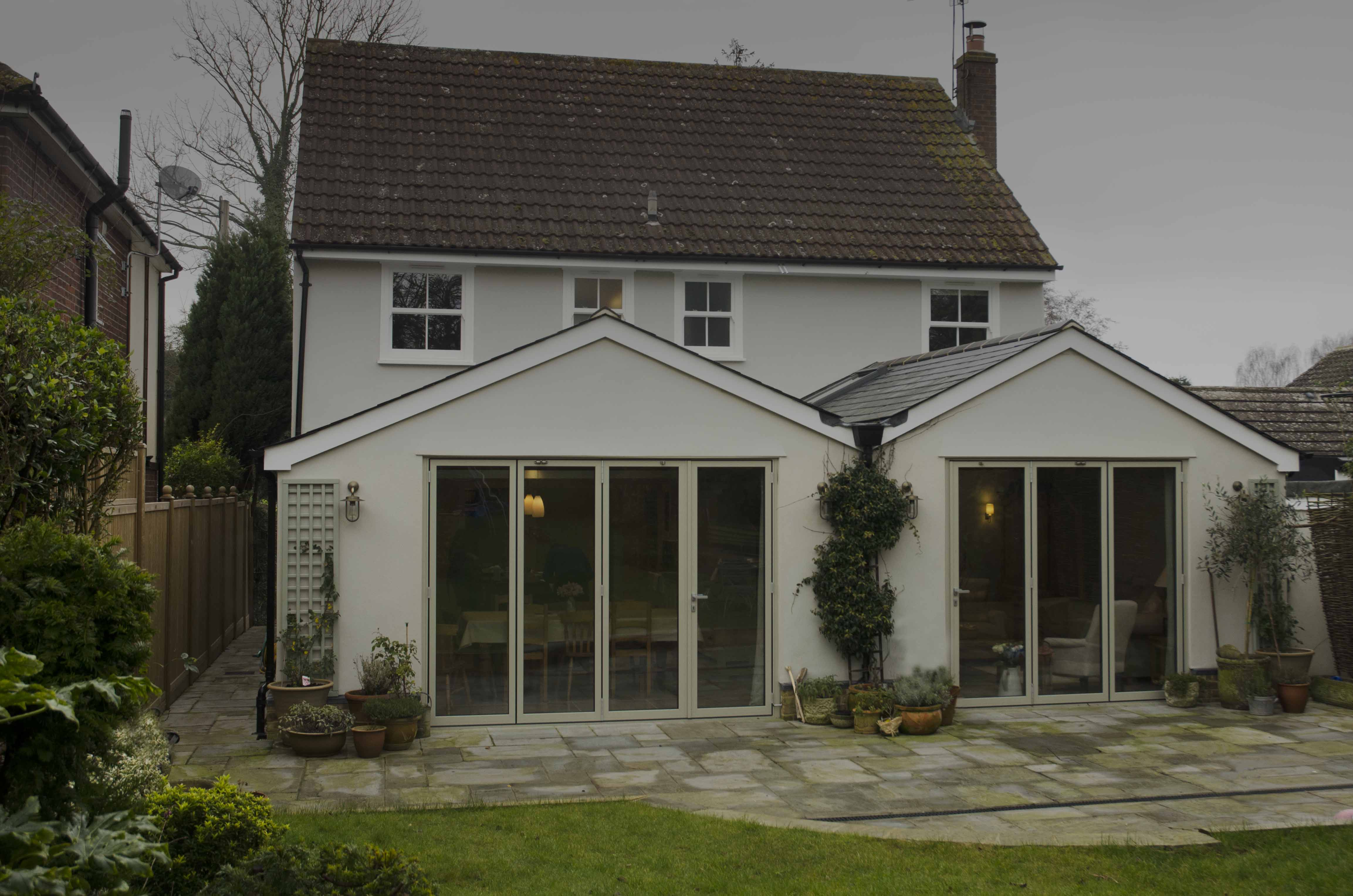 Oak frame extension - Chipping Ongar - Ian Abrams Architect